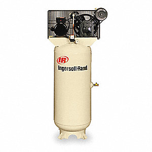 1 Phase Vertical Tank Mounted 5HP Electric Air Compressor, 80 gal., 175 psi