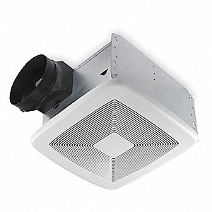 "11-3/8"" x 10-1/2"" x 7-5/8"" Bathroom Fan, 150 CFM, 0.5 Amps"