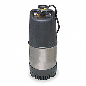 "1-1/4 HP Chemical Resistant Submersible Pump, 115 Voltage, Discharge NPT: 2"", 50 ft. Cord Length"