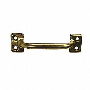 Aluminum Pull Handle with Bright Brass Finish, Gold&#x3b; Hardware Included