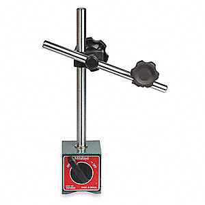 Magnetic Base/Indicator Holder, 132 Magnetic Pull (Lb.), 1-31/32W x 2-23/64D x 2-5/32H Base Size (In