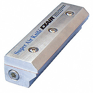"High Efficiency, General Purpose Aluminum Air Knife, 1/4"" (F)NPT Inlet"
