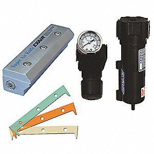 "High Efficiency, General Purpose Aluminum Air Knife Kit, 1/4"" (F)NPT Inlet"