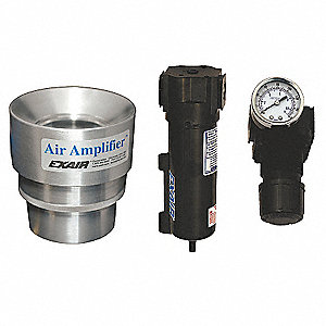 Air Amplifier Kit,4 In Inlet,35.2 CFM