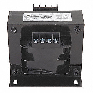 Control Transformer, Input Voltage: 208VAC, Output Voltage: 24VAC