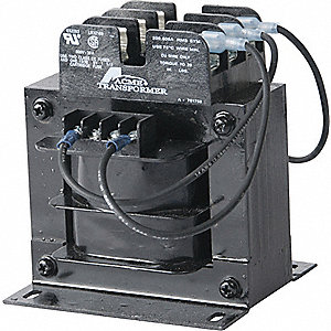 Control Transformer, Input Voltage: 208VAC, Output Voltage: 115VAC