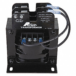 Control Transformer, Input Voltage: 120VAC, 240VAC, Output Voltage: 24VAC