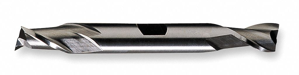 Square End Mill,  Weldon Flat,  Cobalt,  Bright (Uncoated)