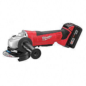 "4-1/2"" Cordless Right Angle Grinder Kit, 18.0 Voltage, 9000 No Load RPM, Battery Included"