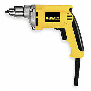 "1/4"" Electric Drill, 6.7 Amps, Pistol Grip Handle Style, 0 to 4000 No Load RPM, 120VAC"
