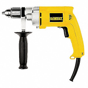 "1/2"" Electric Drill, 7.8 Amps, Pistol Grip Handle Style, 0 to 1000 No Load RPM, 120VAC"