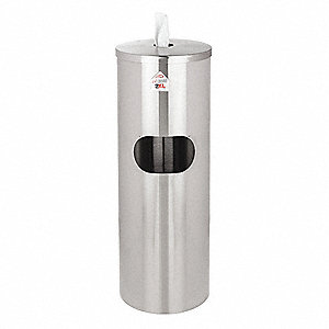 Stainless Steel Wiper Dispenser, Holds (400 to 2300) Wipes, Silver