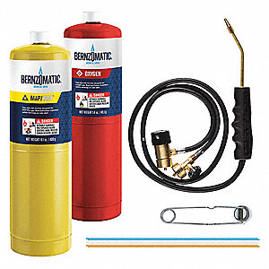 OX2550KC Torch Kit, MaxPP/Oxygen Fuel, Self Igniting Ignitor