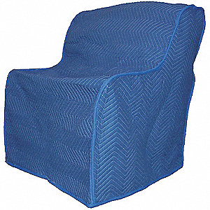 Furniture Cover,40 In. L x 37 In. W,Blue