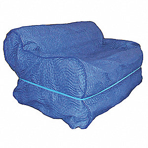 Furniture Cover,37 In W x 109 In L,Blue