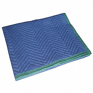 "Cotton/Poly Woven Quilted Moving Pad, Blue, 72""L x 45""W"