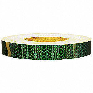 Reflective Tape,W 1 In,Green