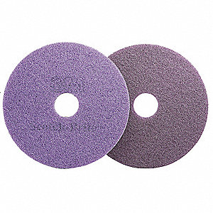 "13"" Purple Diamond Floor Pad Plus, Non-Woven Polyester Fiber, Package Quantity 5"