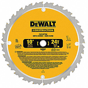 "10"" Carbide Ripping Circular Saw Blade, Number of Teeth: 24"