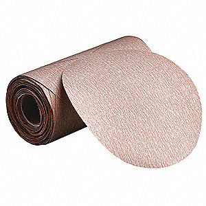 "5"" PSA Sanding Disc Roll, Aluminum Oxide, 80 Grit, Medium, No Hole, Coated, A275"