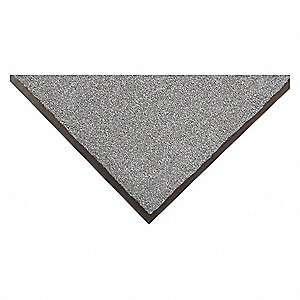 "Indoor Entrance Mat, 6 ft. L, 4 ft. W, 3/8"" Thick, Rectangle, Gray"