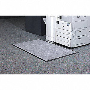 Static Dissipative Mat, Pewter, Nylon with Conductive Fibers, 6 ft. x 4 ft., 1 EA