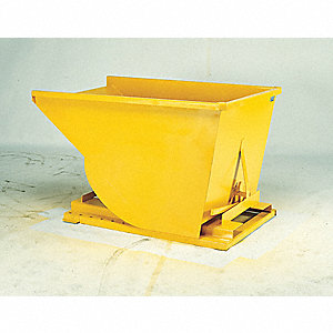 "Self-Dumping Hopper, 1/4 cu. yd. Volume Capacity, 4000 lb. Load Capacity, 33-3/4"" Overall Width"