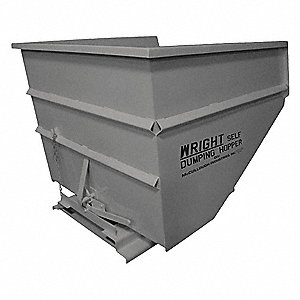 "Self-Dumping Hopper, 3 cu. yd. Volume Capacity, 5000 lb. Load Capacity, 57-3/4"" Overall Width"