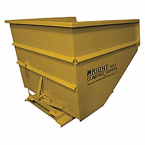Self Dumping Hopper,Medium Duty,Yellow
