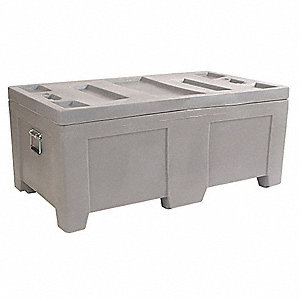 Container,16.5 cu.-ft.,650 lbs.,Gray