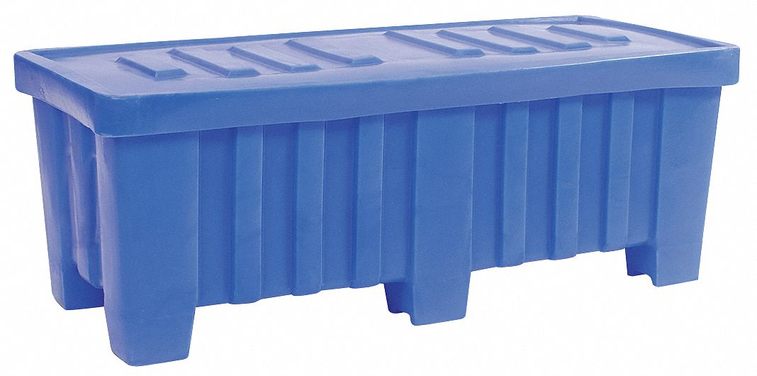 Bulk Container, Blue, 19 inH x 51 1/2 inL x 22 1/2 inW, 1EA