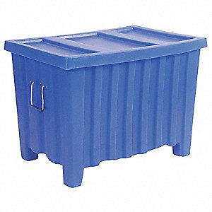 Container,14 cu.-ft.,500 lbs.,Blue