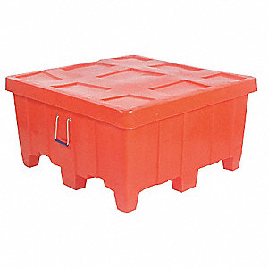 "Bulk Container, Orange, 23""H x 44""L x 44""W, 1EA"