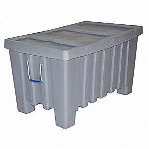 Container,8.7 cu.-ft.,550 lbs.,Gray