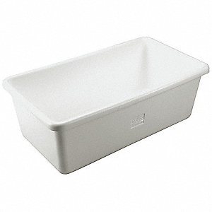Hopper Tub,White,Polyethylene