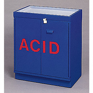 "31"" x 20"" x 36-5/8"" Plywood Acid Safety Cabinet, Blue"