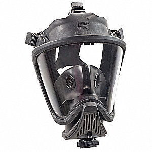 Full Face Respirator,Threaded,L