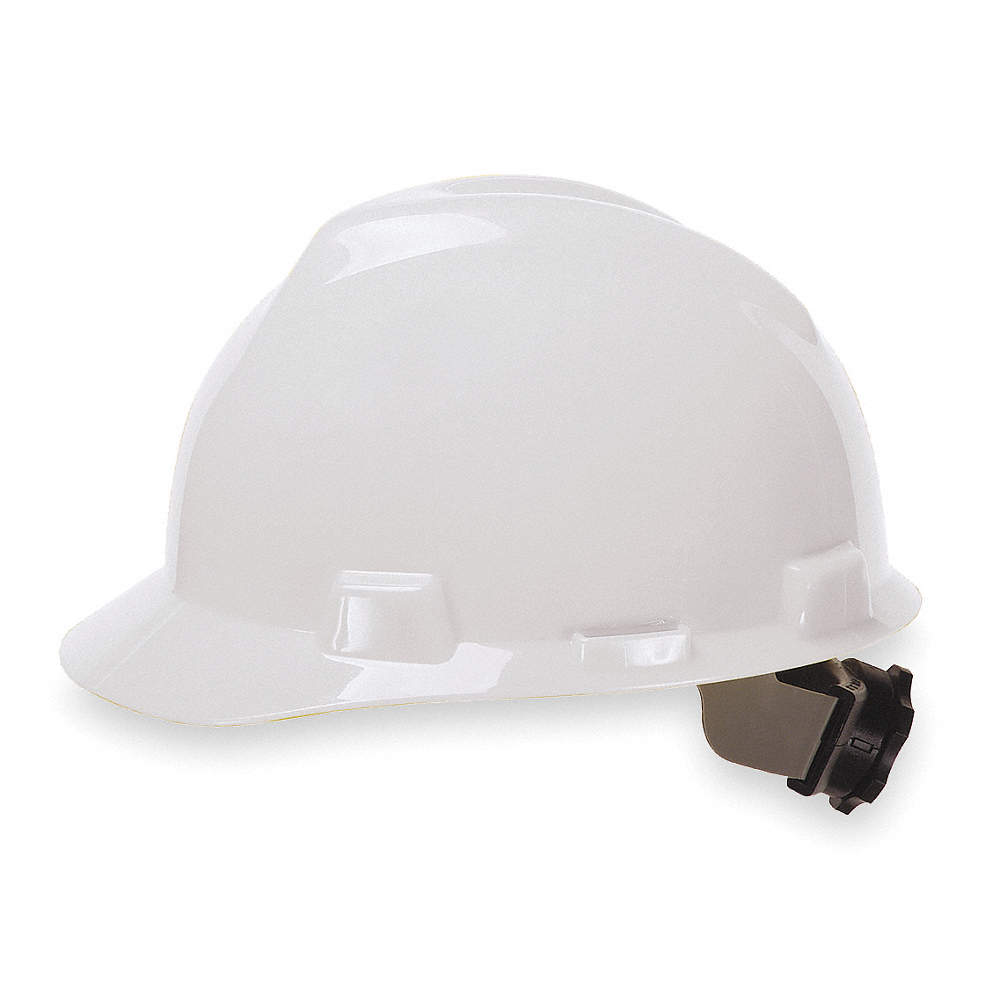 Msa V-Gard Protective Cap Slotted Polyethylene Front Brim 6-1//2-8 in