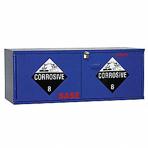 "47"" x 18"" x 18"" Plywood Corrosive Safety Cabinet, Blue"