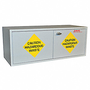 "47"" x 18"" x 18"" Plywood Flammable Liquid Safety Cabinet with Manual Doors, Gray"