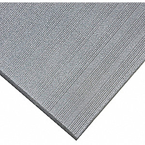"Antifatigue Mat,Gray,2ft. 3"" x 3ft."