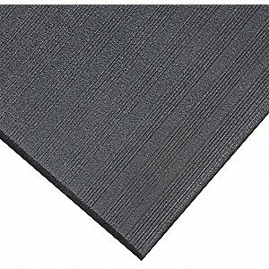 "Antifatigue Mat, PVC Closed Cell Sponge, 3 ft. x 2 ft. 3"", 1 EA"