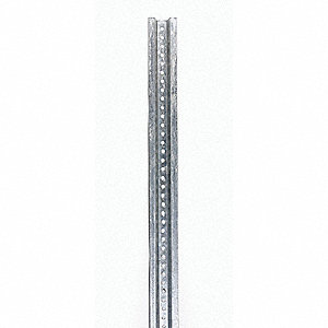 Silver Sign Post, Galvanized Steel, Length: 8 ft., 1 EA