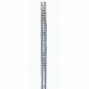 "U-Channel Sign Post, Breakaway Feature: No, 84""L, Steel, Silver"