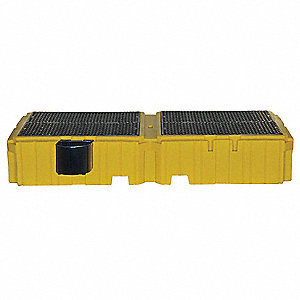 Twin IBC Containment Unit,124-1/2 In. L