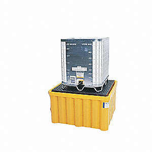 IBC Containment Unit,33 In. H,Yellow