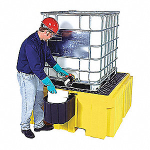 IBC Containment Unit,Drain,28 In.H