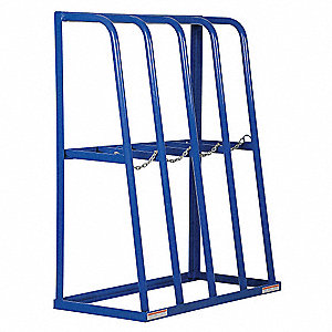 "48-1/2"" x 24"" x 61"" Steel Single Sided Vertical Bar Rack, Blue&#x3b; Number of Shelves: 4"