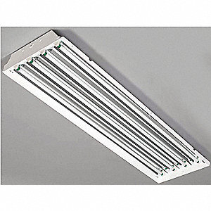 240W Fluorescent High Bay Fixture, 120 to 277V Voltage, Suggested Lamp Item No. 5AE35