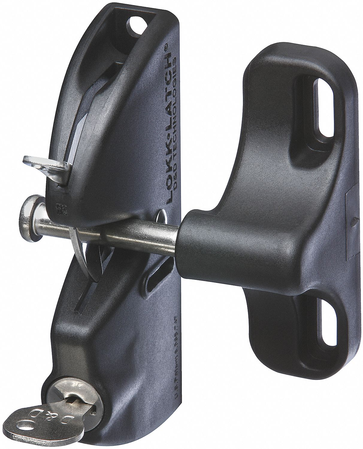 Gravity Gate Latch, 2-1/8 In. W, Black